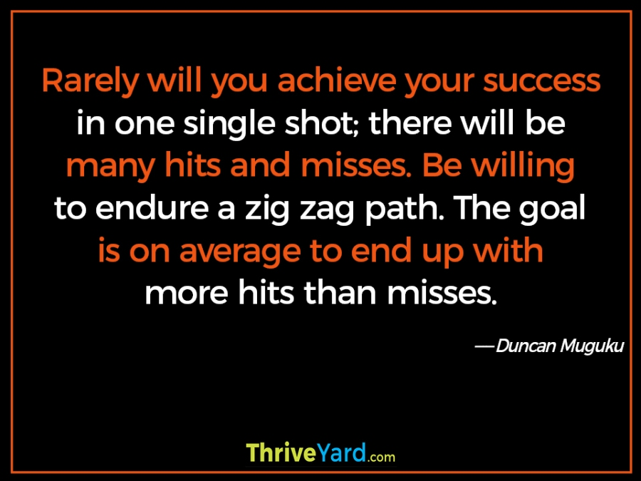 Success zig zag quote – Duncan Muguku